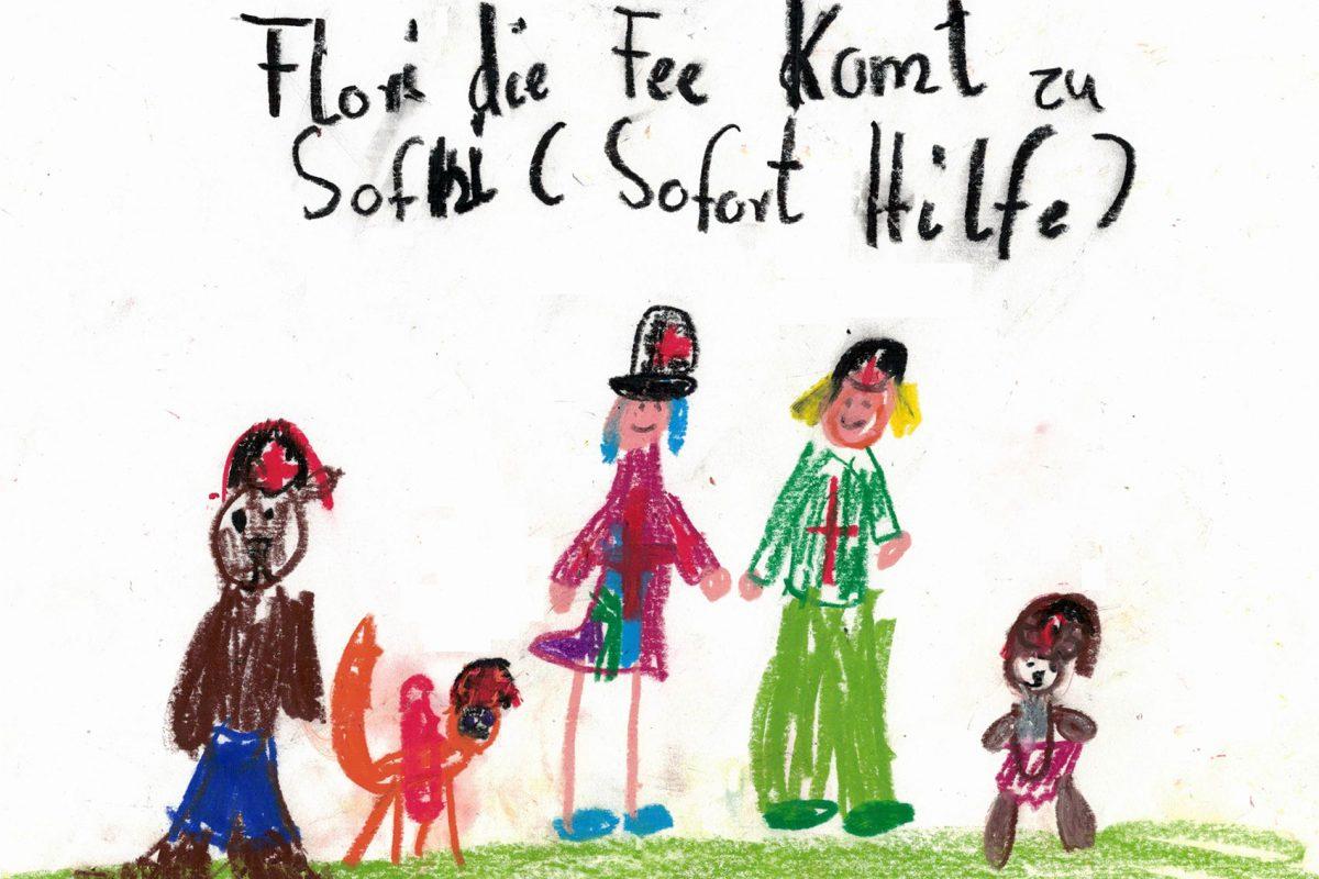 Flory, die Fee kommt zu SofHi (gezeichnet von Enya)